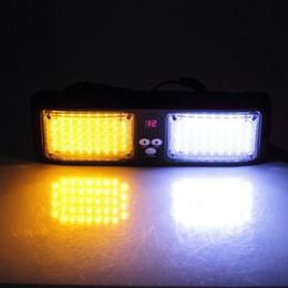Wholesale Amber Emergency Strobe Lightbar - Beacon Flashing LightBar Emergency Harzard Visor Strobe light-86 LED Amber&White