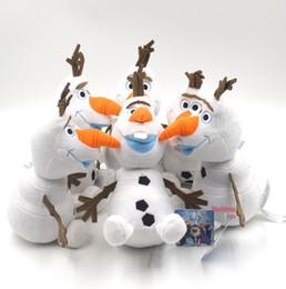 Wholesale Stuffed Princess Toy - 2015 Frozen 22cm OLAF plush toys Snowman Doll cartoon Movie Stuffed Princess Elsa Anna Kristoff Trolls Milu baby Toy 10PCS Lot