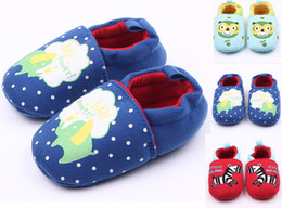 Wholesale Child Cloth Cotton Fabric - Wholesale Cartoon cotton knitted cloth toddler shoes,cheap baby floor shoes,lovely walking shoes,children casual shoes.12pairs 24pcs.ZH