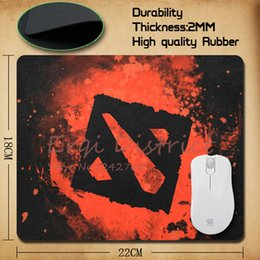 Wholesale Mouse Pads Gaming Logos - Wholesale-2015 New 6 Piece Choice Dota 2 logo Rubber Soft gaming mouse Cool Games black mouse pad Free Shipping