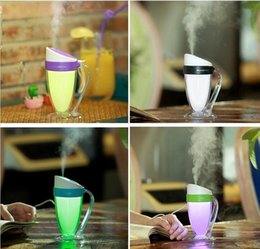 Wholesale Cup Mini Humidifier - 11 Global Shopping Festival Mini USB Moonlight Cup Humidifier Air Diffuser Aroma Mist Maker Atomizer with LED Night-light for Home Office