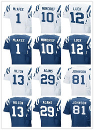 Wholesale Youth Pats Jersey - Men's Jersey Women youth #1 Pat McAfee 10 Donte Moncrief 12 Andrew Luck 13 T.Y. Hilton 29 Mike Adams 81 Andre Johnson Jerseys