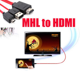 Wholesale Hdtv Adapter Galaxy Tab - Micro USB MHL to HDMI Cable HDTV Adapter mhl hdmi for Samsung Galaxy S5 S4 S3 Note 2 Note 3 Galaxy Tab 3, Tab S, Tab Pro