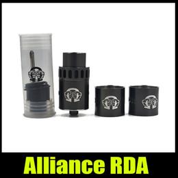 Wholesale Alliance Metal - Alliance RDA Tank Clone 22mm Dripping Atomizer 304 Stainless Steel Peek Insulator DIY Ecigarette Vaporizer 18650 RDA Kit New