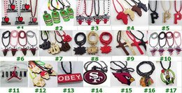 Wholesale Hip Hop Goodwood - Fashion Hot MOQ 10 pcs each style Good Wood Wooden Hip Hop Dancer Goodwood Jewelry NYC High Quality Necklace 285 styles To Choose