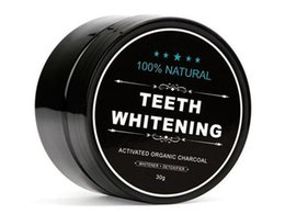 Wholesale Organic Tea Powder - 100% Natural Organic Activated Charcoal Natural Teeth Whitening Powder Remove Smoke Tea Coffee Yellow Stains Bad Breath Oral Care 30g bottl