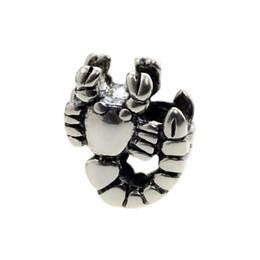 Deutschland Perlen Jäger Schmuck Authentische 925 Sterling Silber Skorpion Charm Perle Modeschmuck großes Loch Perle Für 3mm European Bracelet Schlangenkette Versorgung