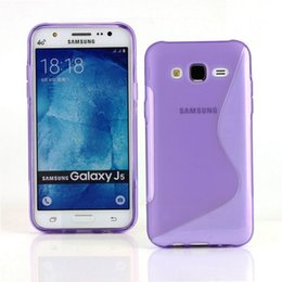 Wholesale Cover For Galaxy S Phone - Wholesale Hot Pink S Line Flexible TPU Protective Soft Case Cover for Samsung Galaxy J5 SM-J500F Phone Bag Free