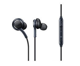 Wholesale Headphones For Galaxy - New S8 Headset Genuine Black In-Ear Headphones EO-IG955BSEGWW Earphones Handsfree For Samsung Galaxy S8 & S8 Plus OEM Earbuds DHL