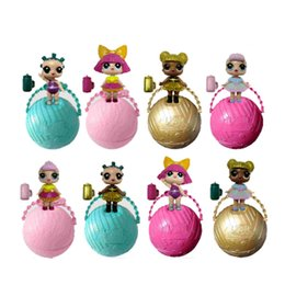 Wholesale Funny Figures - 8 Style Sent Random Funny Kawaii Lol Surprise Doll Open Eggs Dolls Ball Children Anime Action Figure Kids Toys Fun Surprise Egg