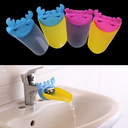 Wholesale Plastic Wash Sink - Cute Bathroom Sink Faucet Chute Extender Crab Children Kids Washing Hands Blue Yellow Pink