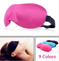 Wholesale eye shade mask blinder - Hot High Quality Travel Sleep Rest 3D Sponge Eye Shade Sleeping Eye Masks Cover Nap Rest Patch Blinder for health care free DHL