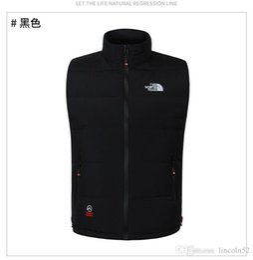 Wholesale Thick Down Vest - 2017 winter down vest warm cold wind waterproof outdoor men's down vest Sleeveless coat keep warm down waistcoat