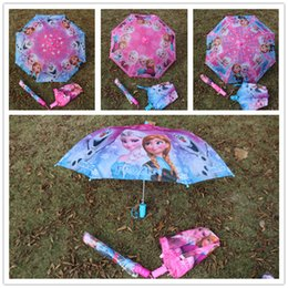 Wholesale Kids Rain Gear Wholesale - Daily Deals !Cute Cartoon Frozen foldable Tangled Umbrella Sun Proof Princess Elsa & Anna Olaf Colorful Children's Rain Gear for kids girls