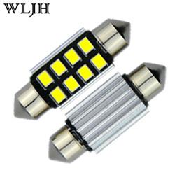 Wholesale e39 lights - WLJH CANbus LED Light 36mm Festoon White C5W Bulb 2835SMD License Plate Light For BMW E39 E36 E46 E90 E60 E30 E53 E70