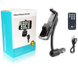 Wholesale Bluetooth Phone Base - New Hot Sale !!! BT8118 Bluetooth V2.1 FM Transmitter Car Kit Phone Holder Handsfree Phone Car Holder FM Lauch Base DHL