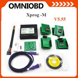 Wholesale Xprog Box - 2018 Xprog M Box V5.55 ECU Chip Tuning Programmer X-PROG box 5.55 xprog 5.50 XPROG-M V5.55 Free Shipping