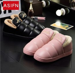 Wholesale C Strap Men - 2018 Now winter cotton slippers slip waterproof shoes for men and women Dropshipping