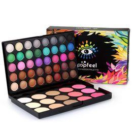 Argentina Paleta de sombras de ojos + Kit de rubor POPFEEL 55 colores Cosmética profesional Cálido, Desnudo, brillante, mate, sombra de ojos, maquillaje, paletas de maquillaje Suministro