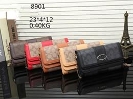 Wholesale Faux Ostrich Purses Handbags - Hot sale fashion women famous M handbag PU leather cross pattern square bags one shoulder messenger bag crossbody chain purse C8901