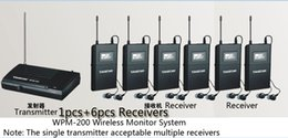 Wholesale uhf receiver - Boutique Stage Monitor System 1 Transmitter 6 Receiver Pack Takstar WPM-200 UHF Wireless Monitor System Stereo In Ear Headphone