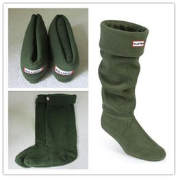Wholesale Quality Wellington Boots - WHOLESALE ADULTS ARMY GREEN HUNTER BOOT SOCKS THERMAL LONG ORIGINAL FLEECE WELLINGTON HUNTER BOOTS SOCKS SALE HIGH QUALITY TALL BOOT SOCK