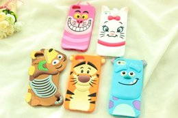 Wholesale Case Cats For S3 - 3D Sulley Tigger Dog Alice Mairie Cat Monster University Cartoon Animal Silicone Case for iPhone 4 5 6 Plus Samsung Galaxy S3 S4 S5 Note 2 3