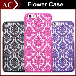 Wholesale Vintage Flower Iphone Cases - Vintage Damask Mandala Datura Henna Wind Chime Flower Matte Hard Plastic PC Translucent Case Cover For iPhone 5 5S 6 Plus 6plus iPhone6 DHL