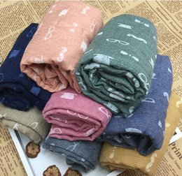 Wholesale Warm Animal Print Scarves - 2015Children winter warm cotton scarves boys and girls glasses beard Print scarves Korean fashon soft kids scarf