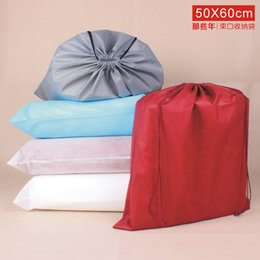 Wholesale Wall Stuff - Portable 50x60CM Prevent Dust Non Woven Thick Stuff Sacks Short Boots Beam Port Drawstring Travel Pouch Groceries Thick Bag