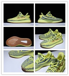 Wholesale Raw Yellow - 2017 SPLY-350 V2 Kanye West Boost B37572 Men's Sport Running Shoes - Semi Frozen Yellow Raw Steel-Red