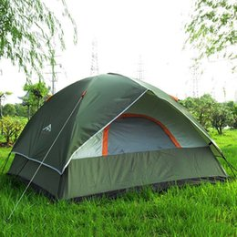 adventure games Coupons - Wholesale- 3 Person 200*200*130cm Double Layer Weather Resistant Outdoor Camping Tent for Fishing, Hunting Adventure Family Party picnic
