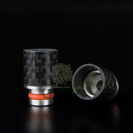 Wholesale Ego Ce4 Ce5 Drip Tip - Carbon Fiber Drip Tips Wide Bore drip tip 510 EGO Mouthpiece for CE4 CE5 Aerotank Genitank RBA RDA atomizer E Cigarette vs ATTY drip tips