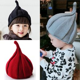 Wholesale Baby Beach Protection - Newborn Cute Winter Baby Hat Fur Ball Pompom Cap Kids Girl Boy Winter Knitted Wool Hats Caps for Girls Hemming Hat Beanies