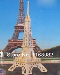 Wholesale 3d Puzzles Paris - Wholesale-Fashion 3D three-dimensional puzzle pieces intellectual development model making crafts DIY Eiffel Tower in Paris, France