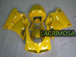 Argentina Carenado de ABS para DUCATI 748 916 996 94-02 kits de cuerpo de plástico bodykits Molde de inyección-Full Yellow Suministro
