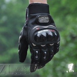 Wholesale Motorcross Cycle - wholesale free shipping guantes luvas PRO-biker gloves bicycle cycling waterproof moto motorcross full finger man women motorcycle gloves