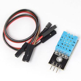 Wholesale Dht11 Digital Temperature - Holiday Sale For arduino DHT11 Module With Cable Digital Temperature and Relative Humidity Sensor Module