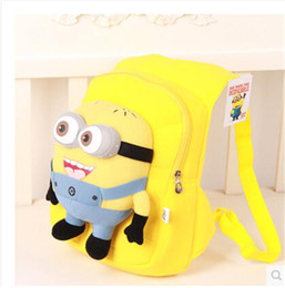 Wholesale Despicable Plush Character - Free Shipping Kids Toddler Bags Boys Girls Despicable ME Stuffed Bolsa Minion Doll Plush Cartoon School Bag Backpack