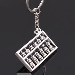 Wholesale Chinese Wholesale Key Rings - Keychain Chinese Abacus Calculator Gifts Kids key chain ábaco abaküs abaco Zinc Alloy keychains Key Holder Ring