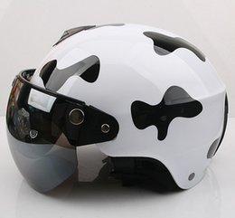 "Wholesale Kk Moto - Wholesale-KK#26 Taiwan ""EVO"" Retro Motorcycle Open Face Racing Snow Scooter Moto Bright Black "" milch cow "" Helmet &"