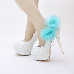Wholesale Cute Stiletto Shoes - White Lace Birthday Party Shoes Women Spring Appliques Mother of Bride Shoes Sweetness Cute 2016 Handmade Wedding Shoes