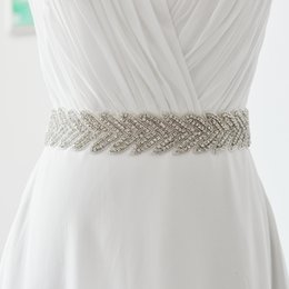 Wholesale Sexy Accesories - S238 Luxury Fashion Crystal Beaded Diamond Accesories Sash Sexy Wedding Dress Belt 15 colors Ribbon Exquisite Handmade Jewelry Free Shipping