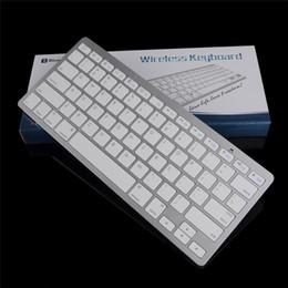 Tablet pc teclado universal online-Teclado universal de aluminio Bluetooth Teclado inalámbrico 2.4G Mini teclado ultradelgado para iPad Tablets PC Smartphone