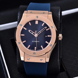 Wholesale Rubber Power - Luxury Brand AAA New Gold Classic Fusion King Power Automatic Movement Mechanical Fashion Sports Mens Watches Wristwatch