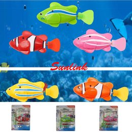 Wholesale Electric Fishing Machine - electric fish toy light LED Miracle machine induction Paddle pet clownfish multi styles with retail package