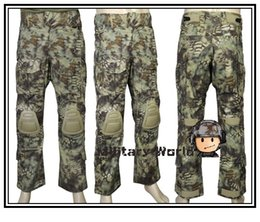 Wholesale Emerson Bdu - Wholesale-Emerson Airsoft Military V3 Tactical Pants With Detachable Knee Protection Outdoor Army Combat Men's Style BDU Trousers