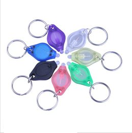 Discount micro led keychain - Mini Keychain Squeeze Light Micro LED Flashlight Torch Outdoor Camping Emergency Key Ring Light 1000pcs YYA957