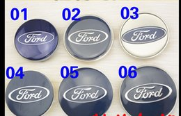 Wholesale Ford Center Caps - Free Shipping 4PCS Auto Car Wheel Center Caps Wheel Covers Hub Caps 58 65 69mm Badge Emblem Hubcaps Hub Cap For Ford focus mondeWheel Covers