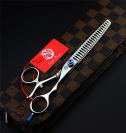 Wholesale Scissors Swivel - Wholesale- 7.5 inch Swivel Thumb Pet Thinning Scissors Pet Grooming Scissors
